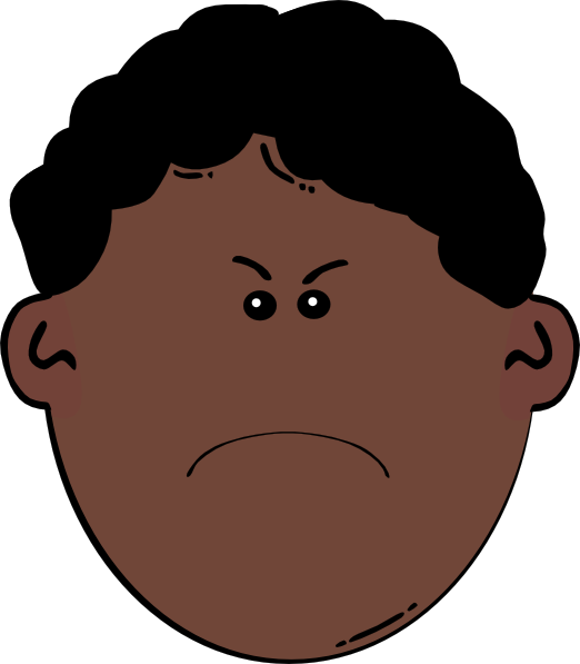 Angry Boy Clip Art At Clker Com   Vector Clip Art Online Royalty Free