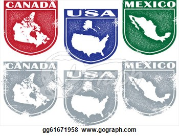 Drawing   North American Country Crests  Clipart Drawing Gg61671958