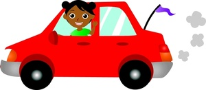 Driving Clipart Image   Black African American Girl Driving A Car