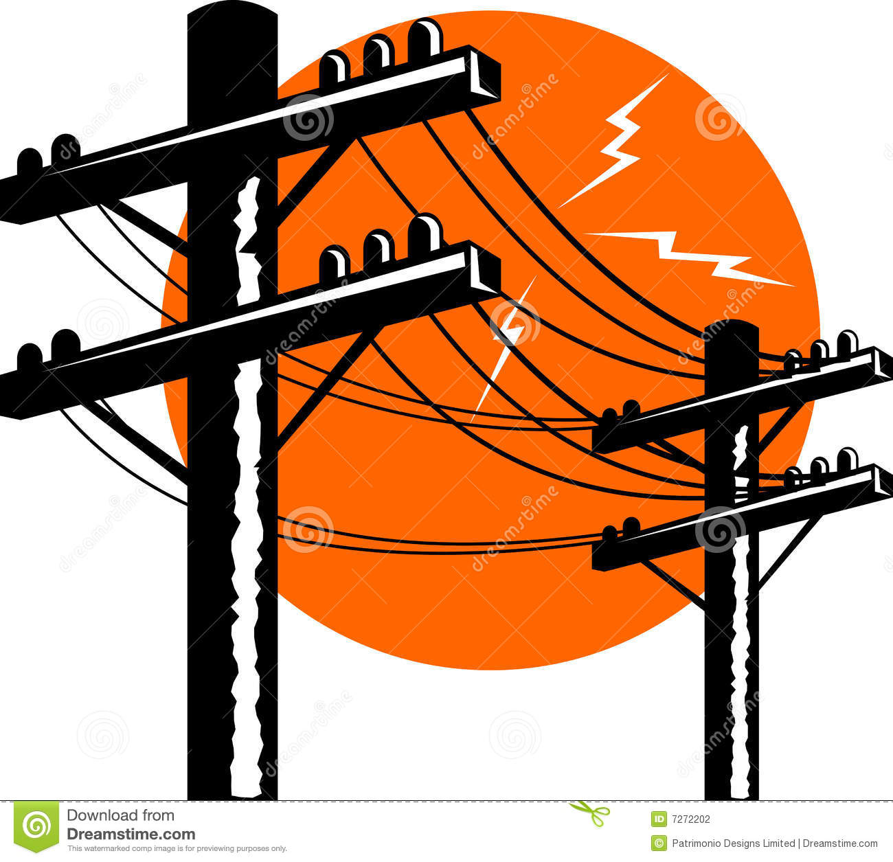 Electric Power Line Post Stock Photography   Image  7272202