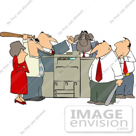 Frustrated Employee Clipart