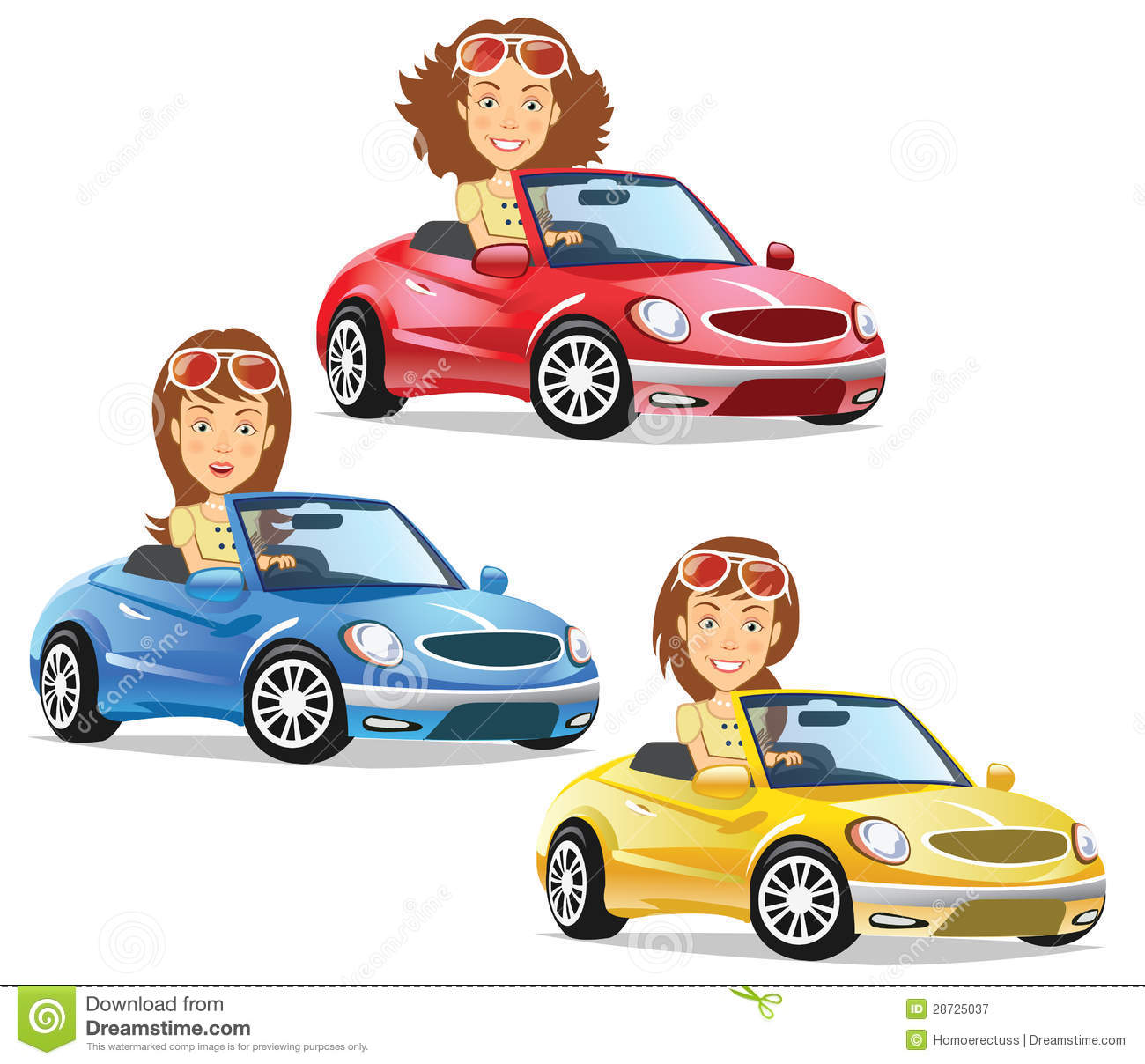 Girl Driving Convertible Royalty Free Stock Photography   Image