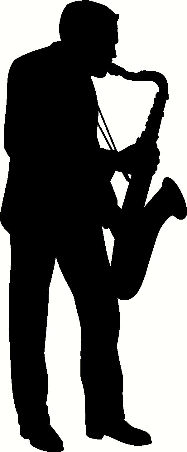Jazz Singer Silhouettes Clipart