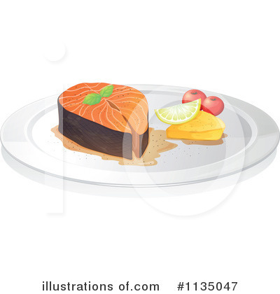 Salmon Clipart  1135047 By Colematt   Royalty Free  Rf  Stock