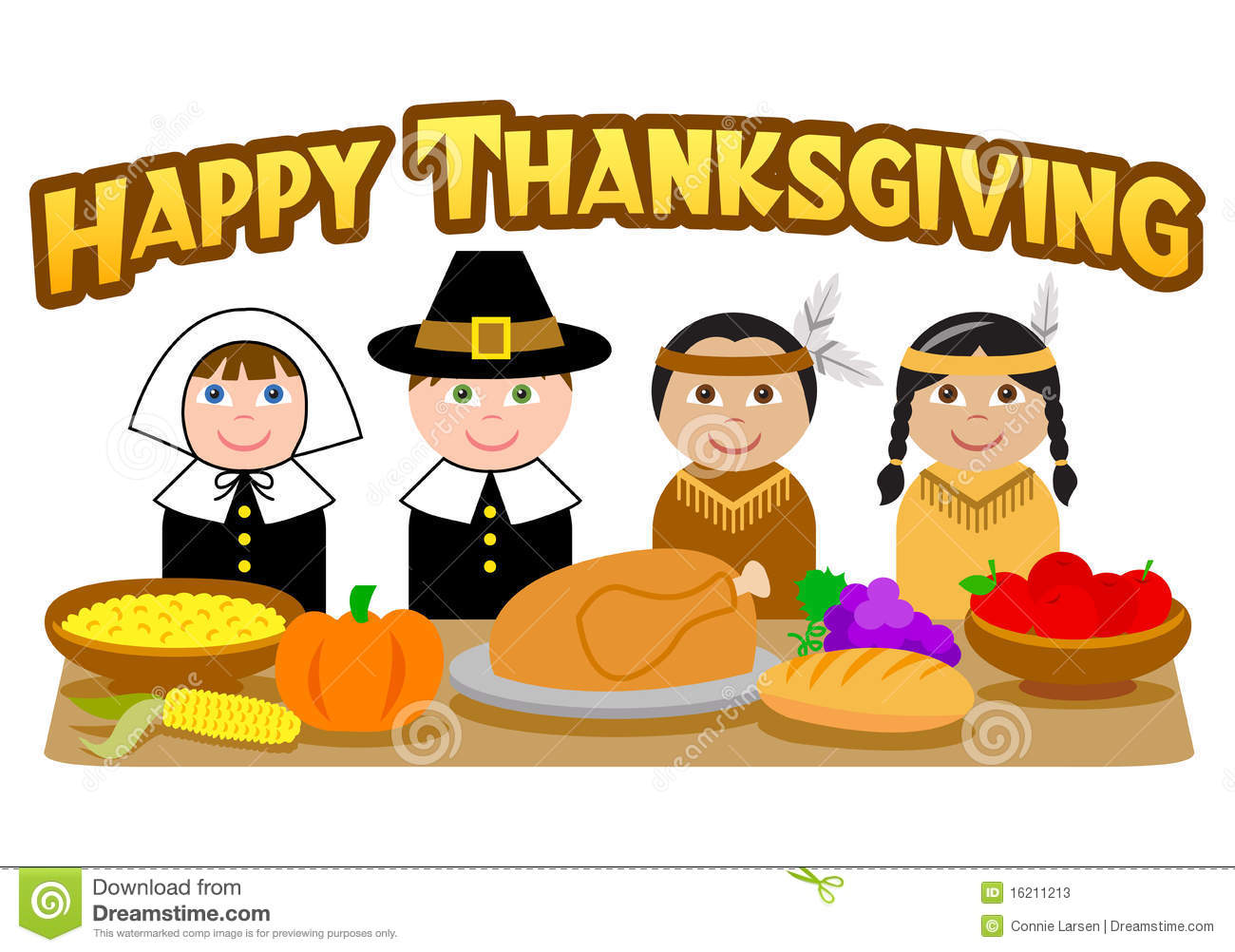 Thanksgiving Pilgrims And Indians Eps Stock Photos   Image  16211213