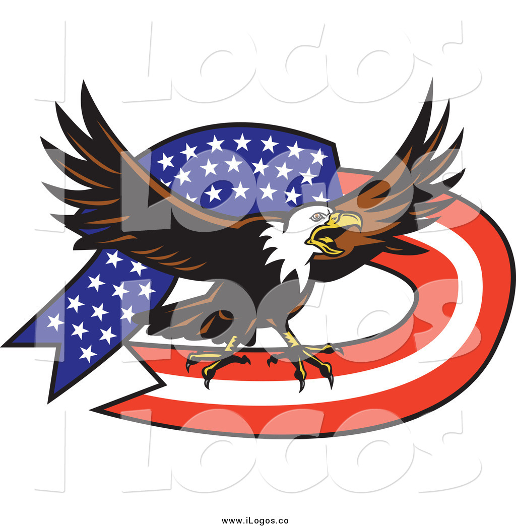 American Eagle With Banner Vector Illustrationjpg   Male Models