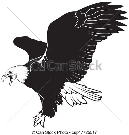 Bald Eagle   Black Illustration Vector Csp17725517   Search Clipart