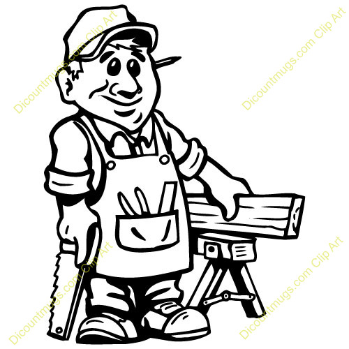 Clip Art Carpenter Clipart carpenter stock illustration images 10417 handyman hand drawn vector of an