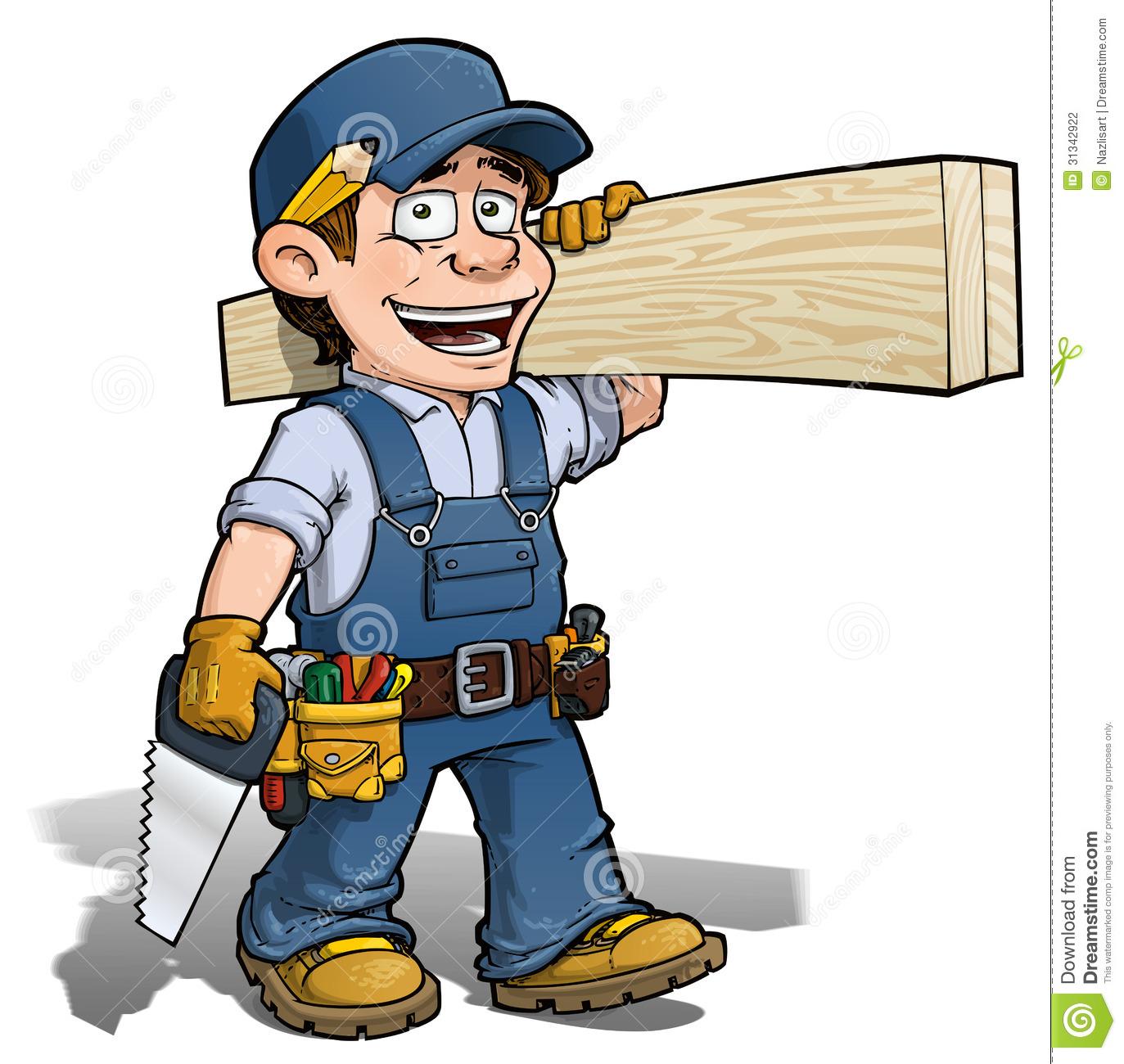 Cartoon Carpenter Clip...