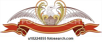 Clipart Of Bald Eagle Banner With Copy Space U18224855   Search Clip