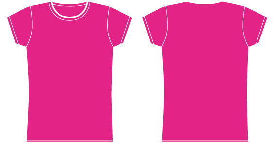 Girls Pink T Shirt Template Free Vector Vector Free Vector Images