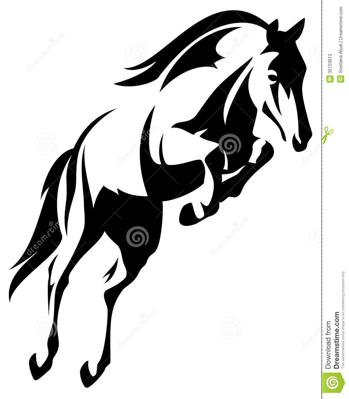 Show Jumper Horse Clipart - Clipart Kid