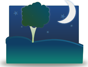 Landscape By Night Clip Art At Clker Com   Vector Clip Art Online