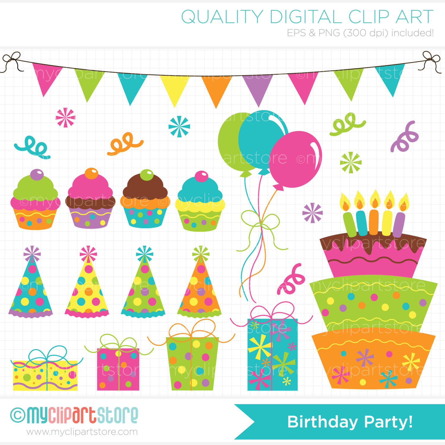 Party Decorations Clipart Birthday Party Clip Art #BZ1Ctp ...