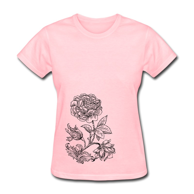 Solid Woman T Shirt Art Clipart Rose Make Own Love Logo Tee For Ladys