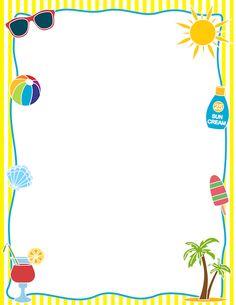 Summertime Border Clipart - Clipart Kid