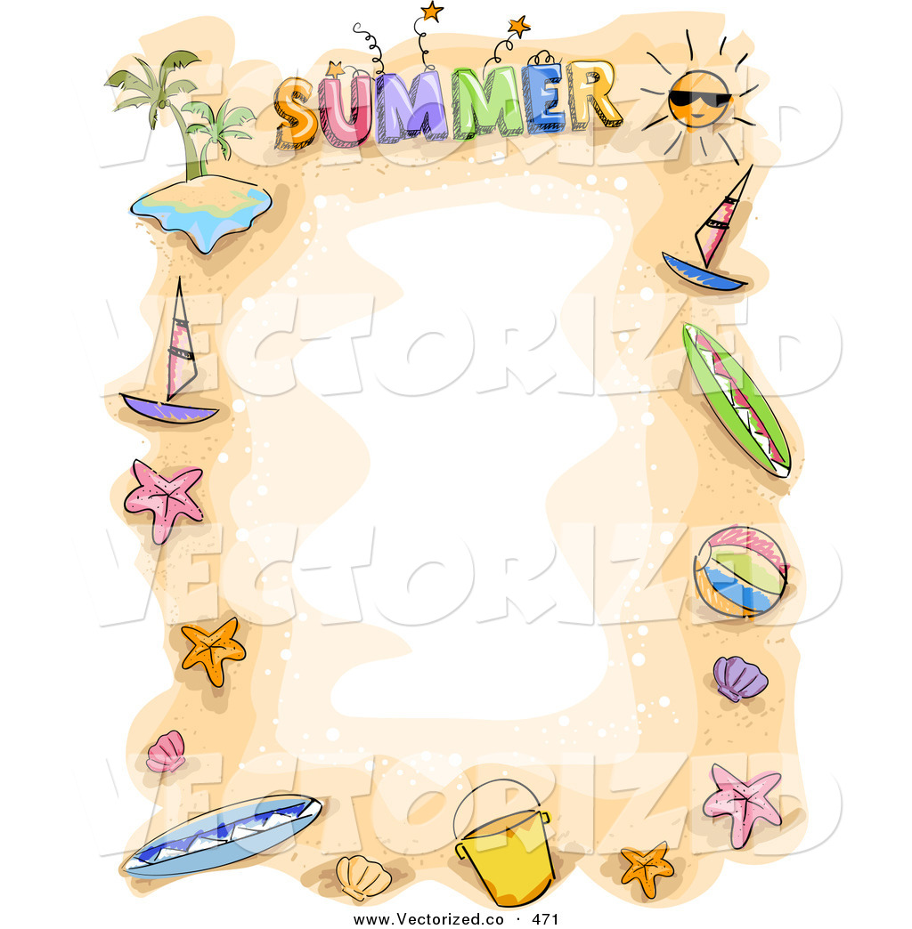 Summer Holiday Border Clip Art – Cliparts