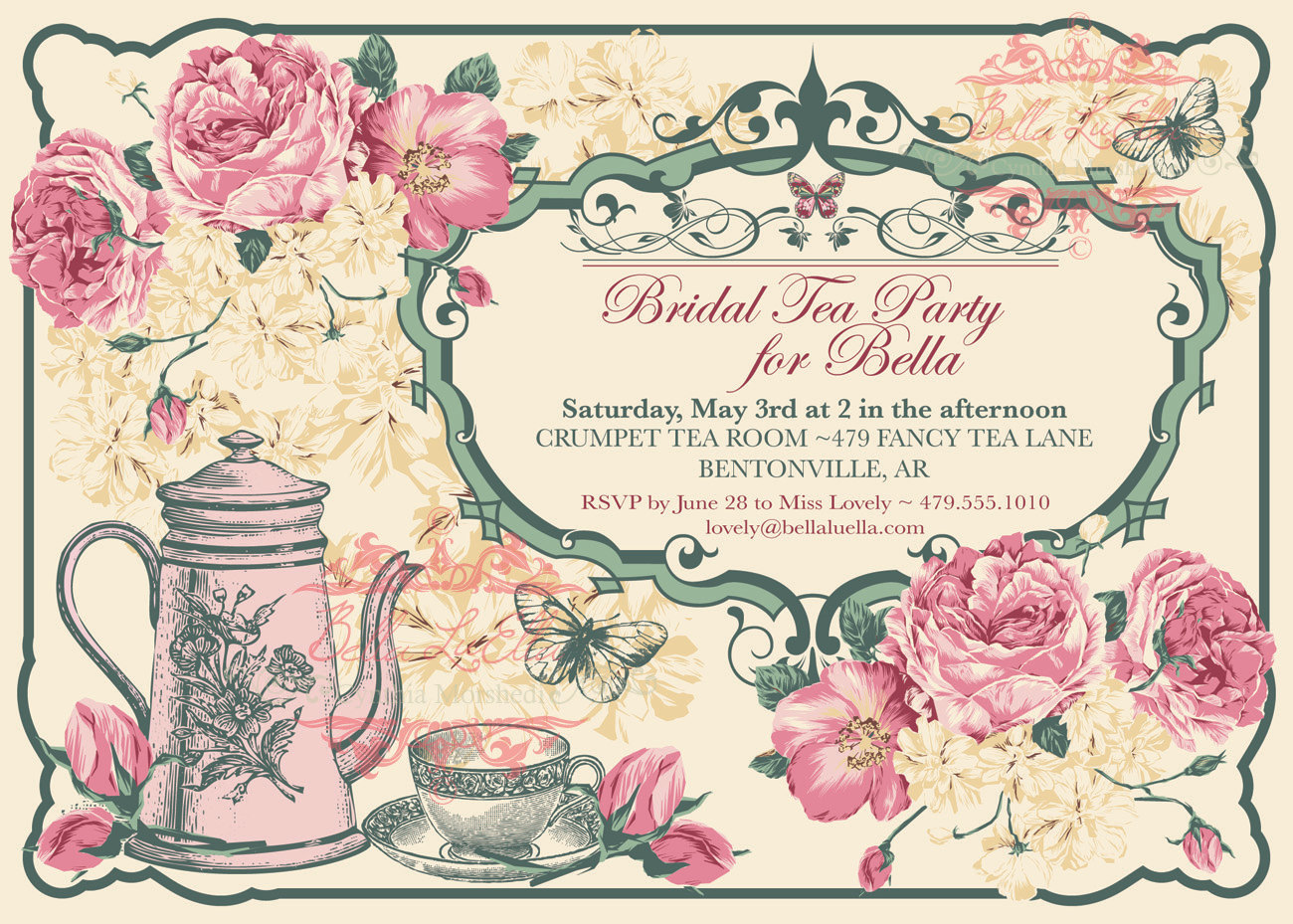 Elegant Tea Party Clipart Clipart Kid – Tea Party Invitations for Kids