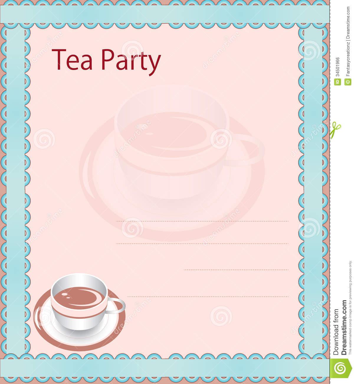Tea Party Invitations Clip Art Otfwfs Clipart Kid