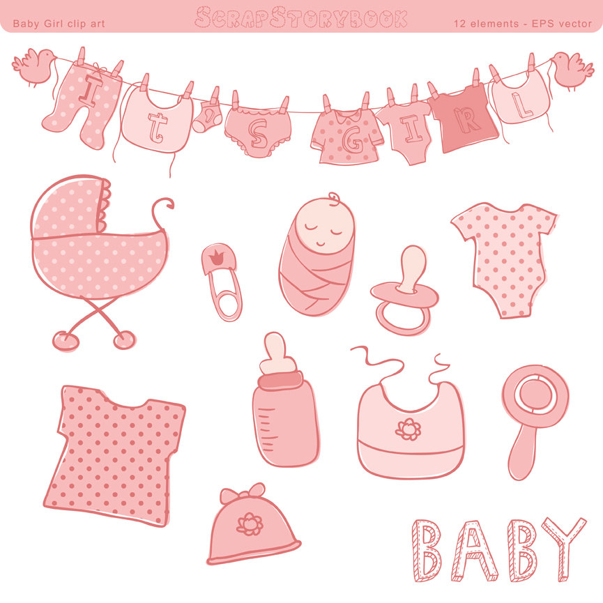 Welcome Baby Girl Clipart Clipart Suggest Baby Shower Ideas