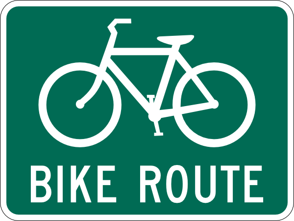 Bicycle Route Sign Clip Art At Clker Com   Vector Clip Art Online