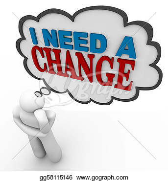 Change Management Clipart I Need A Change   Thinking
