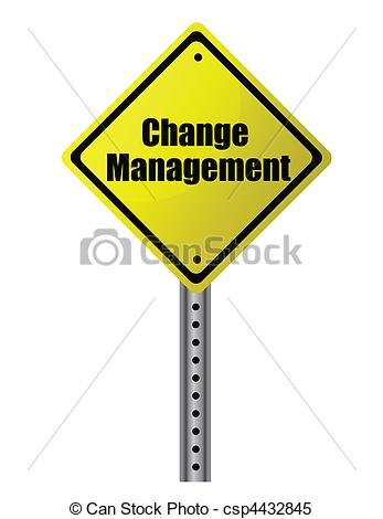 Change Management Posted On A Yellow Sign  Vector File Available