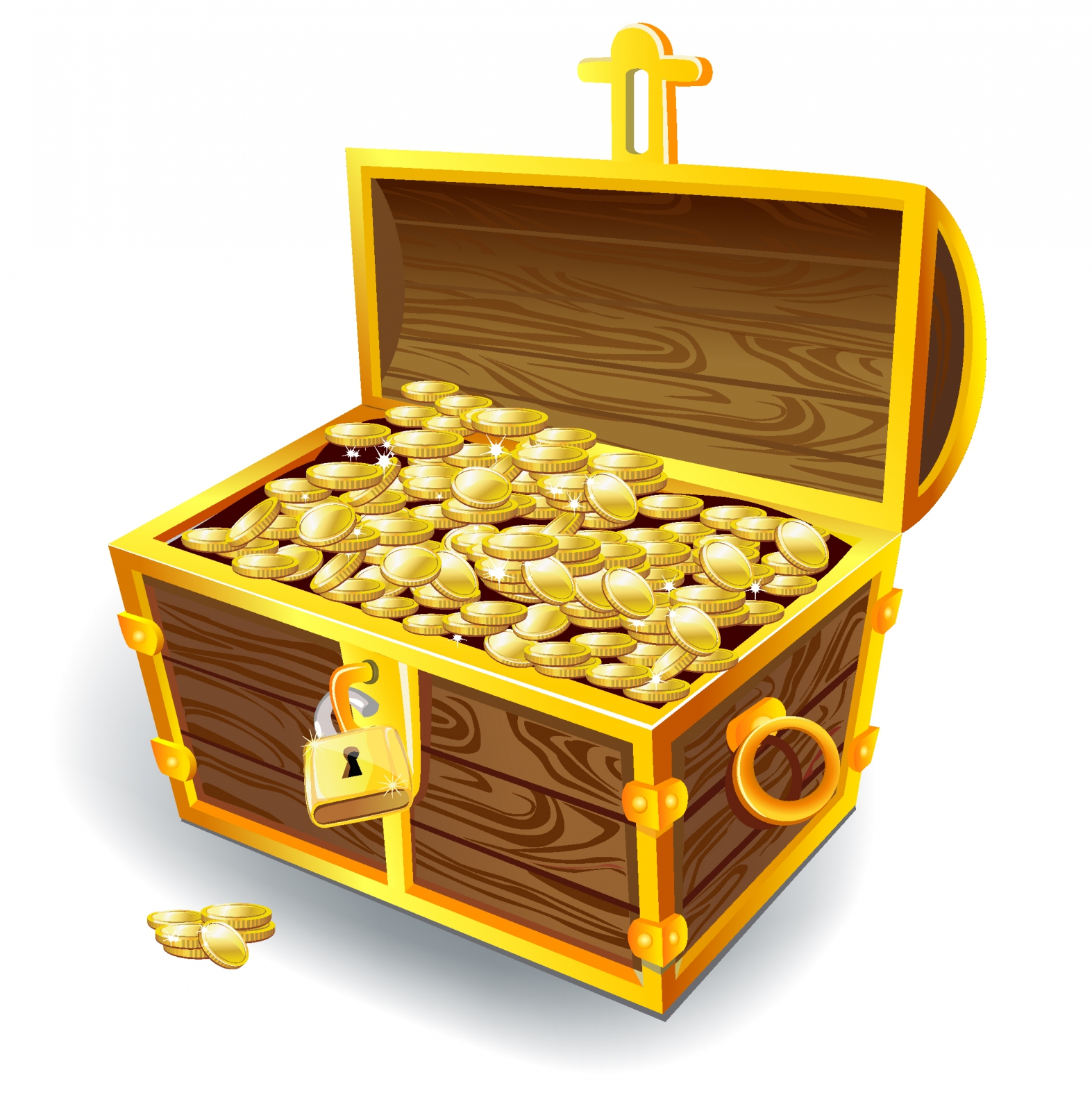 Open Treasure Box Clipart - Clipart Kid