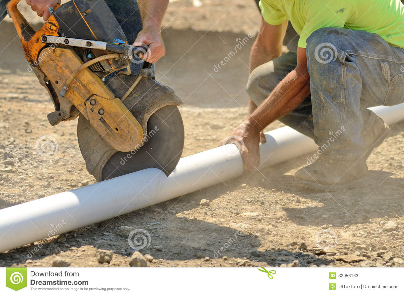 Infrastructure Excavation Building Contractors Cutting Water Lines For
