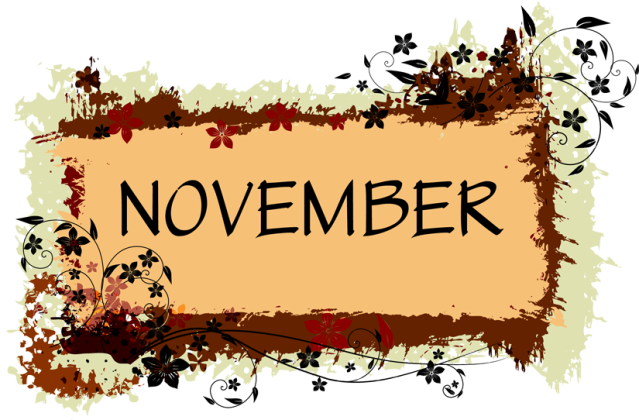 Thanksgiving Calendar Art : November holidays clipart kid