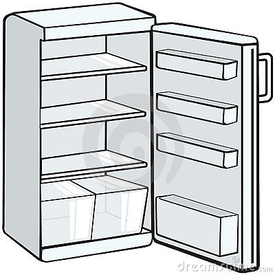 The Gallery For Gt Refrigerator Coloring Page