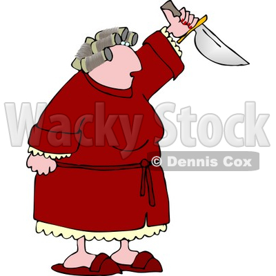 Pms Preparing To Kill Someone With A Knife Clipart   Dennis Cox  4985