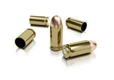 9mm Bullets And Casings Royalty Free Stock Photography