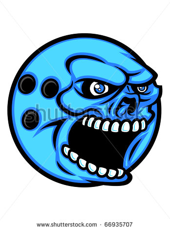 Angry bowling ball clipart