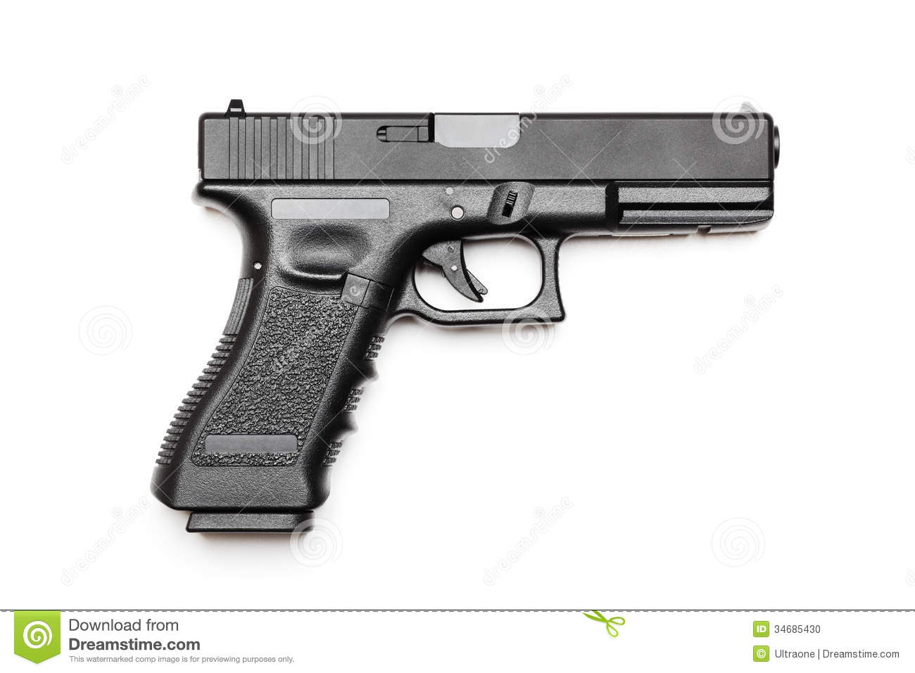 Automatic Pistol Stock Photo   Image  34685430