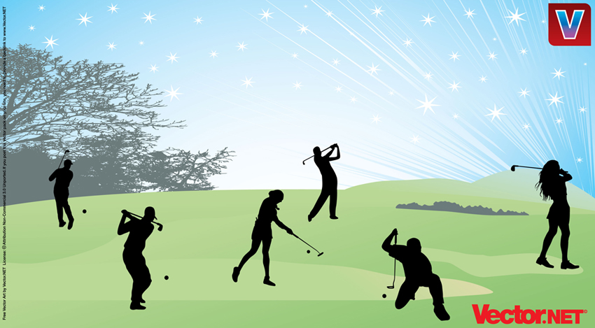 Back   Gallery For   Clip Art Girl Woman Swing Golf Club