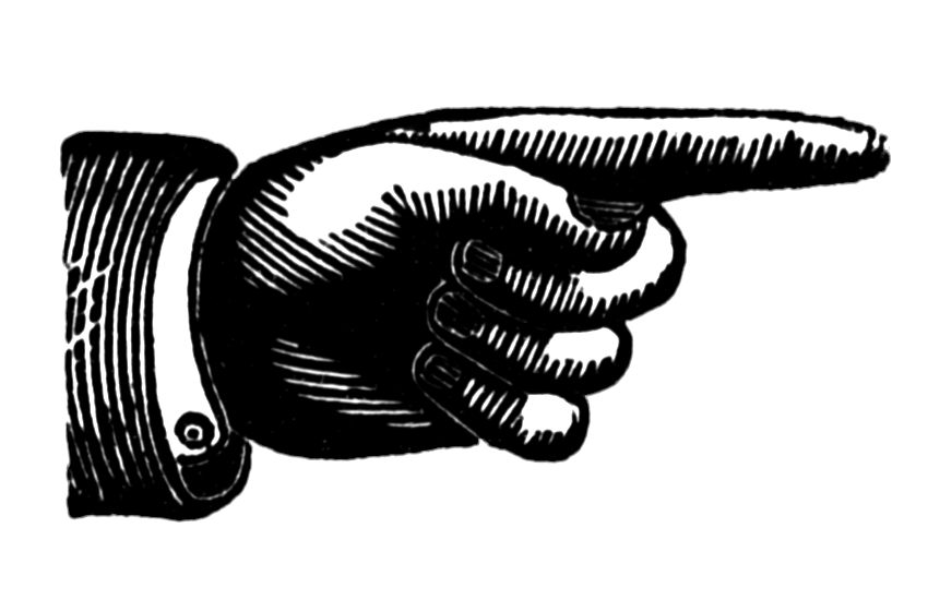 Point Finger Black And White Clipart - Clipart Kid