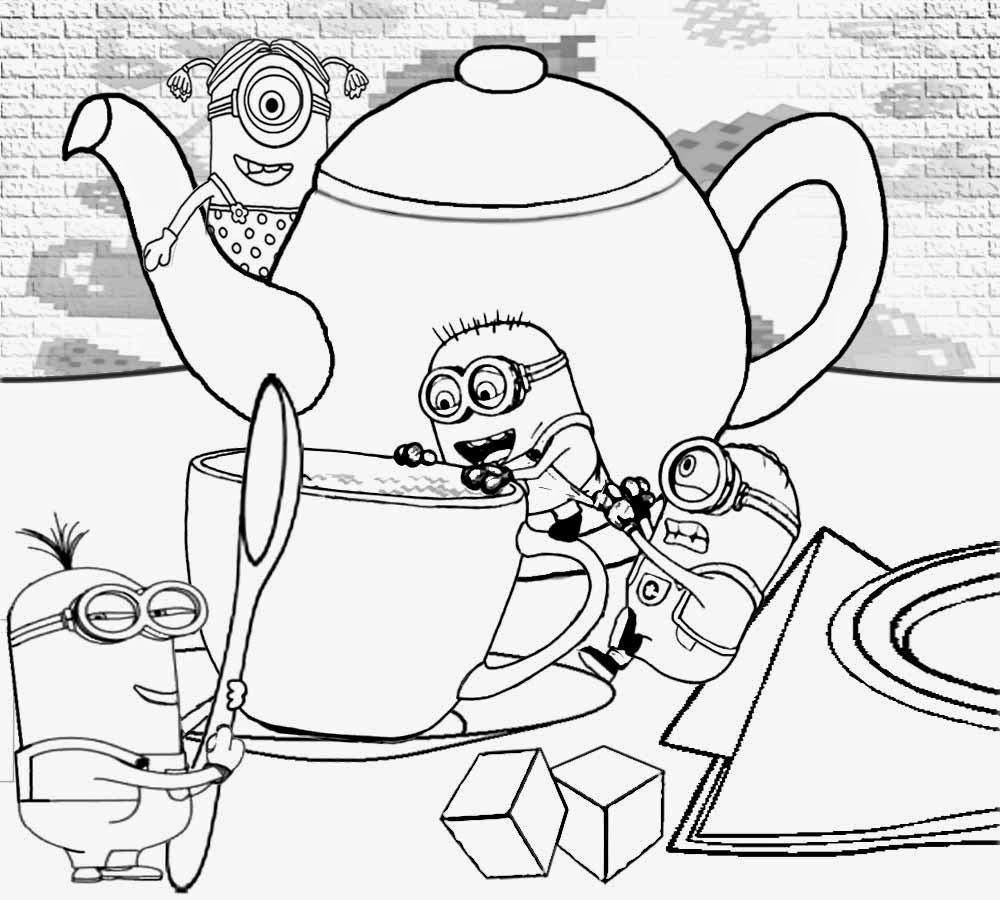 Cartoon Minion Rush Vector S House Tea Time Clothing Minions Printable