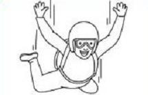 Free Skydiving Or Parachuting Clipart