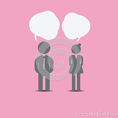 Man And Woman Icon On Pink Background Stock Illustration   Image