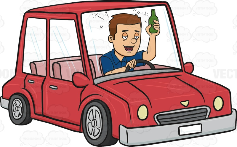 Man Drinking And Driving   Vector Graphics   Vectortoons Com