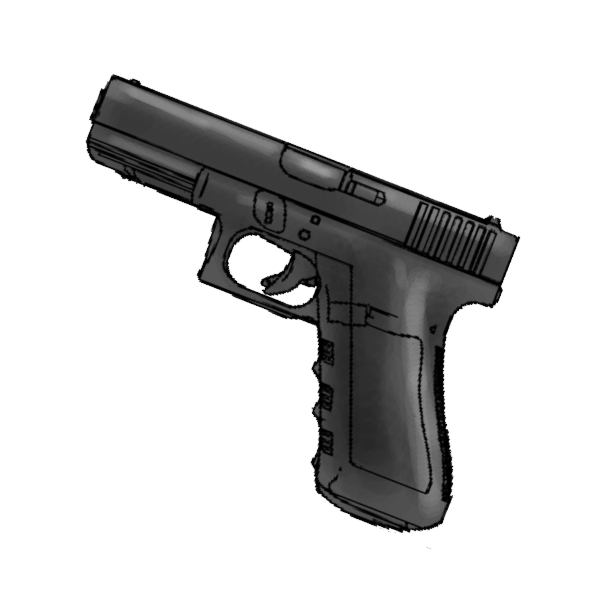 Pin 9mm Gun Sketch On Pinterest
