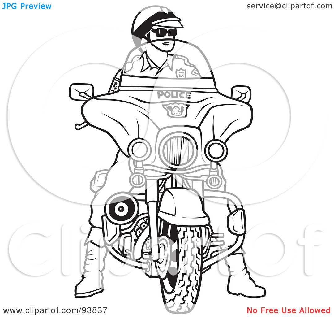 Royalty Free  Rf  Clipart Illustration Of A Black And White Outline Of