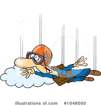 Skydiving Clipart  1048000   Illustration By Ron Leishman