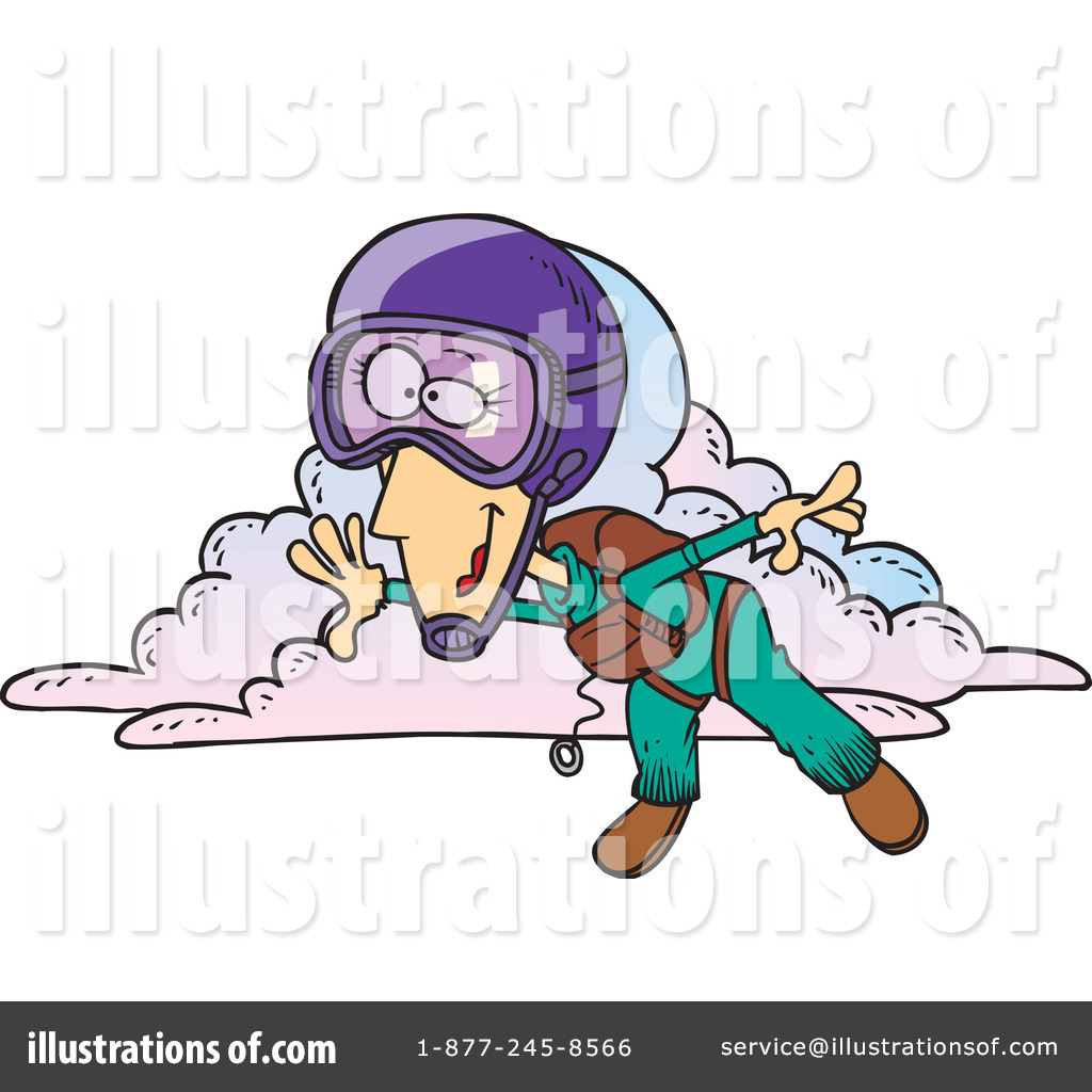 Skydiving Clipart  1048021 By Ron Leishman   Royalty Free  Rf  Stock