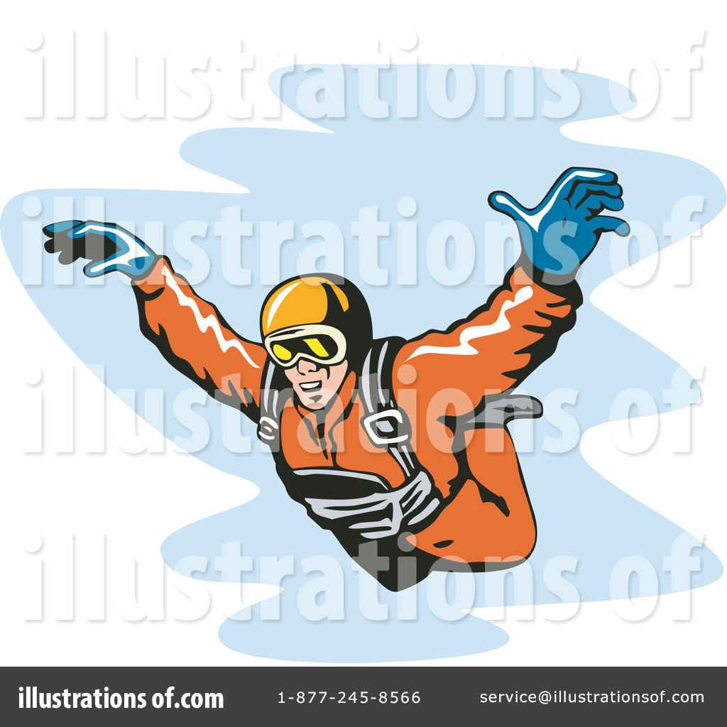 Skydiving Clipart  1145032 By Patrimonio   Royalty Free  Rf  Stock