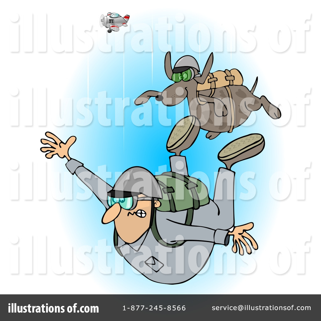 Skydiving Clipart  1222948 By Djart   Royalty Free  Rf  Stock