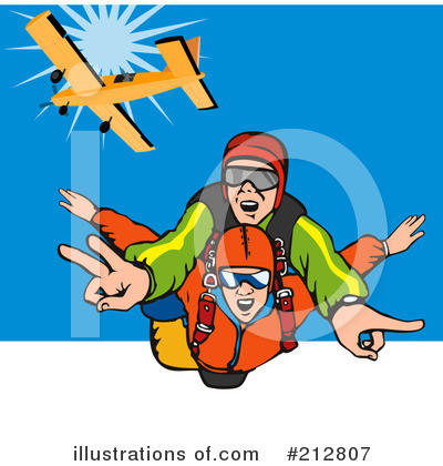 Skydiving Clipart  212807   Illustration By Patrimonio