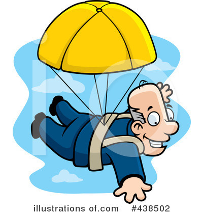 Skydiving Clipart  438502   Illustration By Cory Thoman