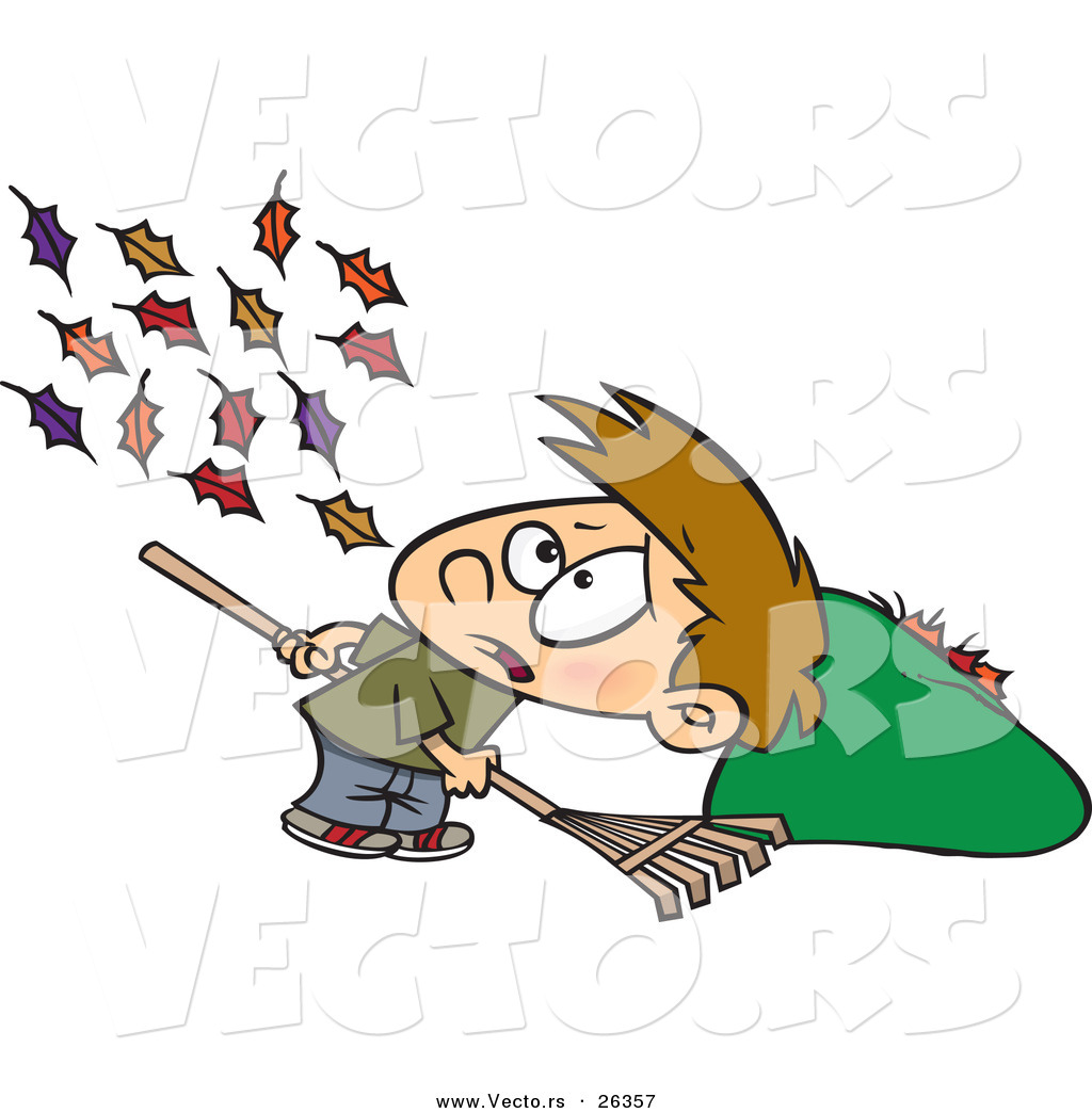 Vector Of Wind Blowing More Autumn Leaves To The Ground For A Cartoon